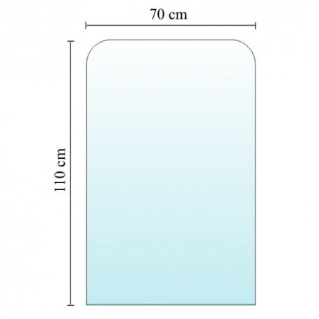 Szyba pod kominek, piecyk 110x70 cm